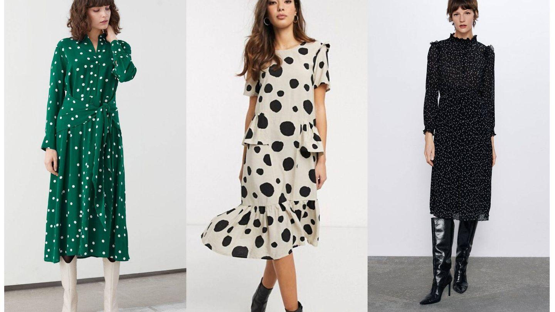 Un trio de vestidos con print de lunares.