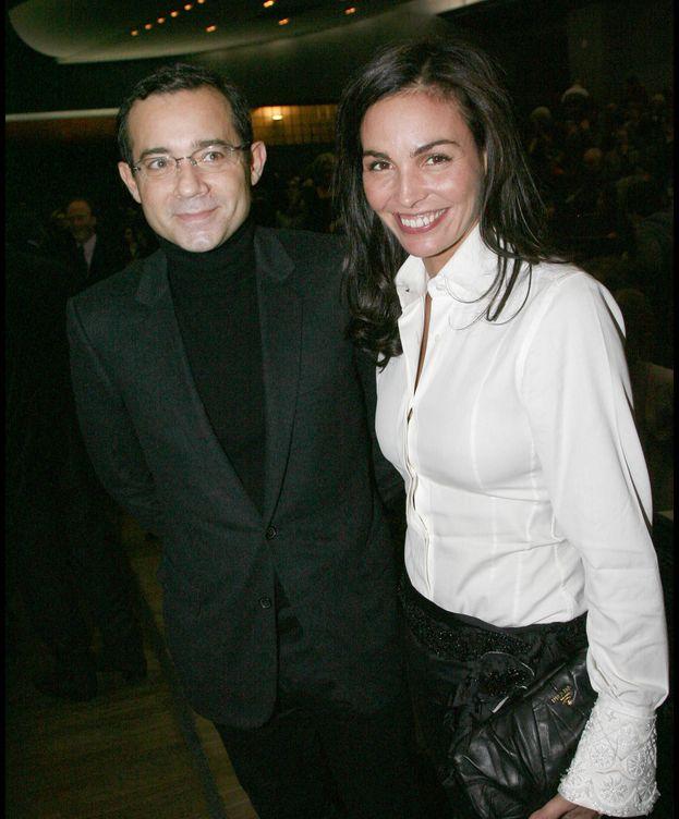 Foto:  Inés Sastre, con Jean-Luc Delarue, en 2009. (Getty)