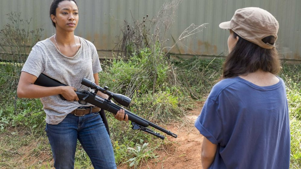 Foto: Sasha y Rosita en 'The Walking Dead'