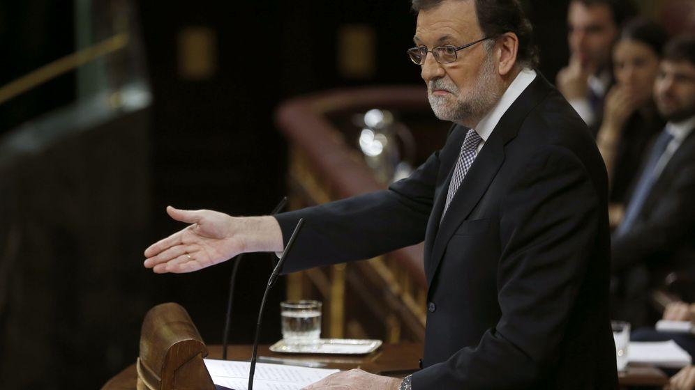 Foto: Mariano Rajoy, en el debate de investidura (EFE)