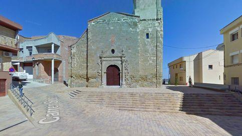 Se derrumba el campanario de la iglesia Sant Pere Rosselló (Lleida)