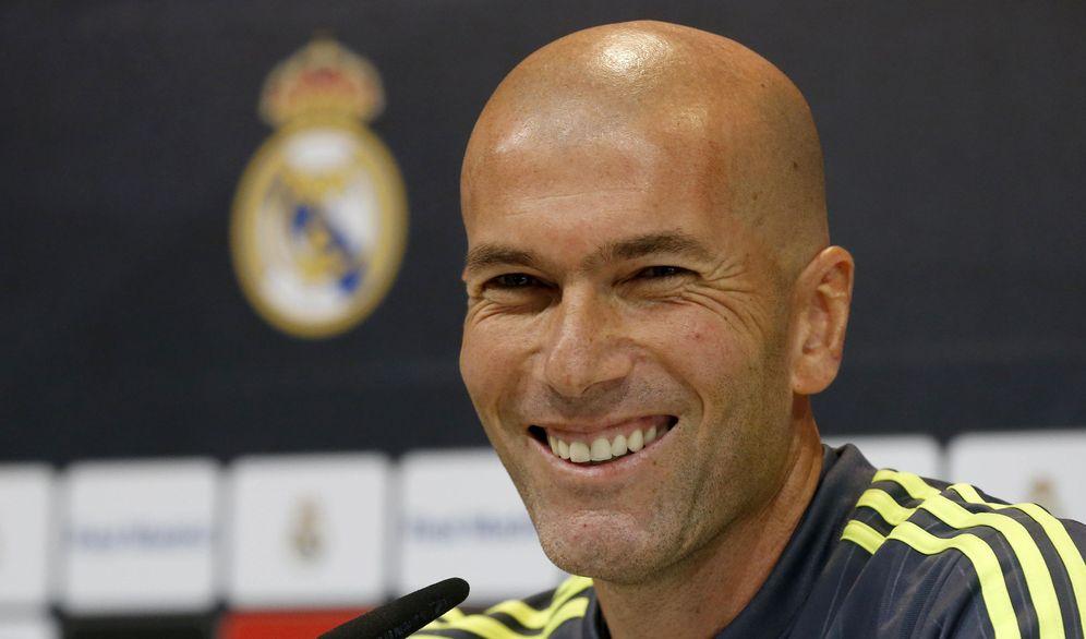Foto: Zinedine Zidane, durante su rueda de prensa de este viernes en Valdebebas. (EFE)