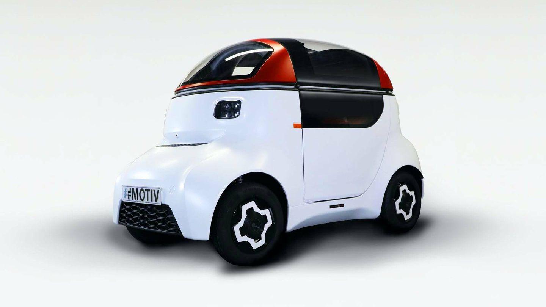 El MOTIV es un claro ejemplo de lo que pueden hacer gracias a iStream: un cuadriciclo eléctrico, de menos de 400 kilos y que cumple con las regulaciones de seguridad de un coche corriente.