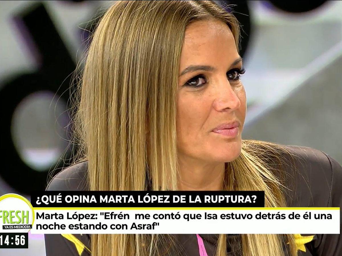 Foto: Marta López, en 'Ya es mediodía'. (Mediaset España)
