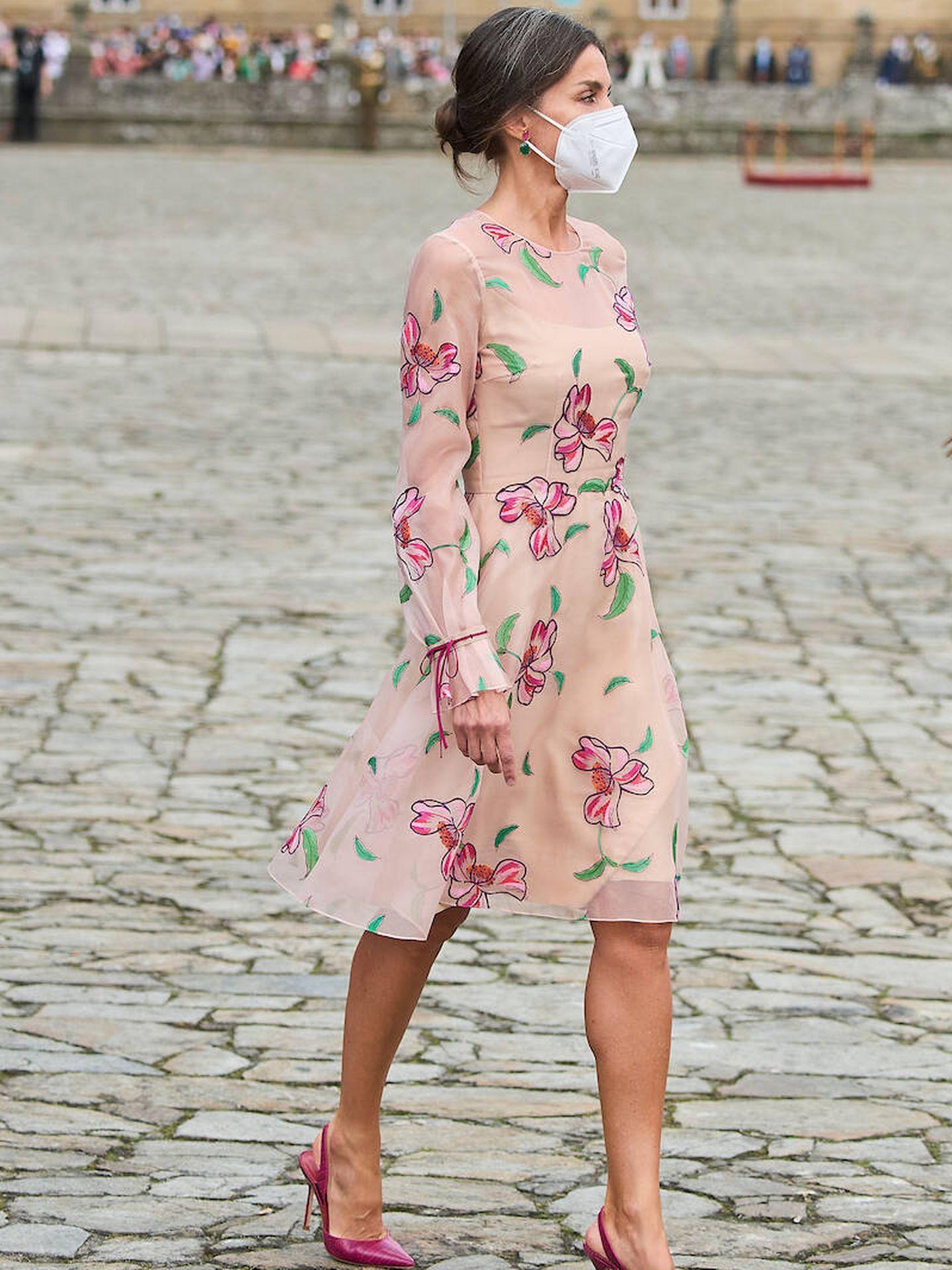La reina Letizia en Santiago de Compostela. (Limited Pictures)