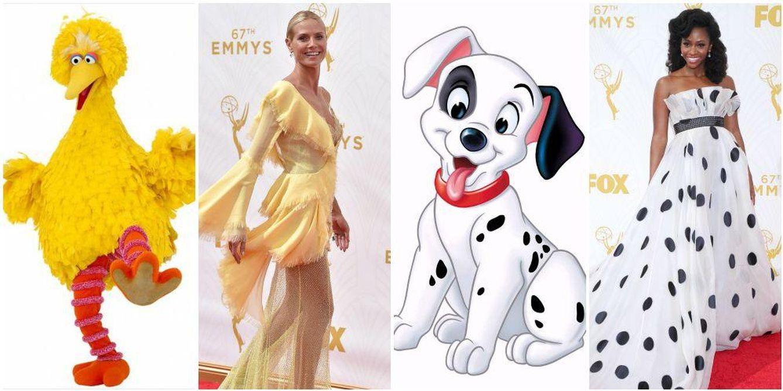 Foto: Comparaciones realizadas por los internautas de los looks de los Emmy 2015 (Gtres)