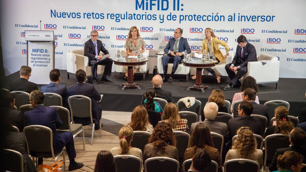 Foto: Foro sobre la MiFID II organizado por El Confidencial y BDO.