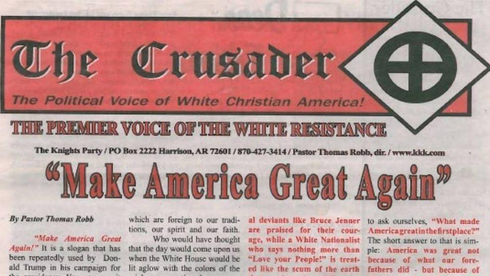 El periódico del Ku Klux Klan apuesta por la candidatura de Donald Trump