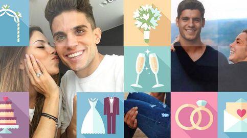Marc Bartra y Álvaro Morata se casan (aunque no entre ellos)