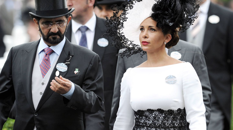La princesa Haya de Jordania con Mohamed bin Rashid Al Maktoum en Ascot. (Getty)