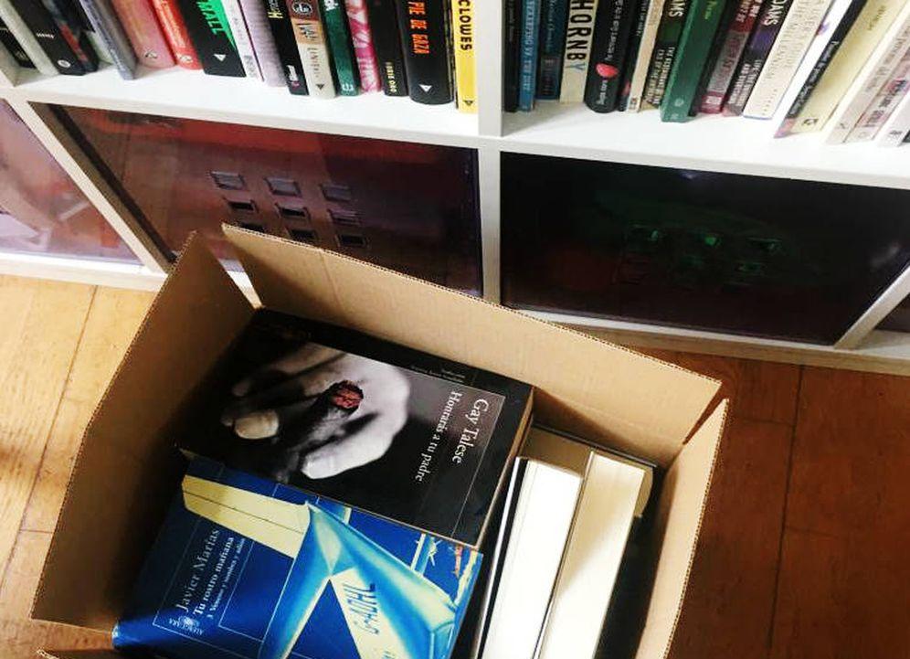 Foto: Una mudanza con libros