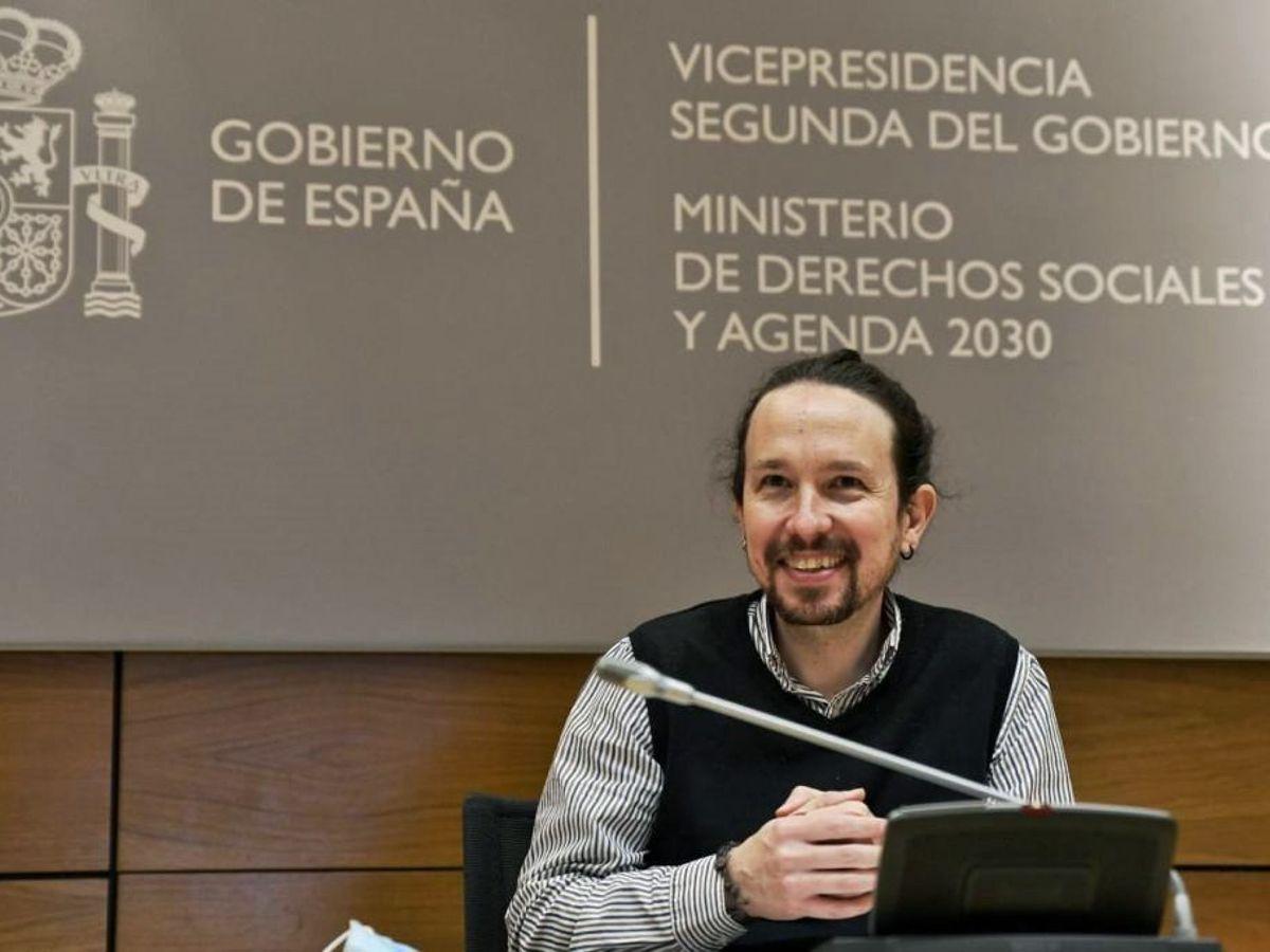 Foto:  El vicepresidente segundo de Derechos Sociales y Agenda 2030, Pablo Iglesias. (EFE)