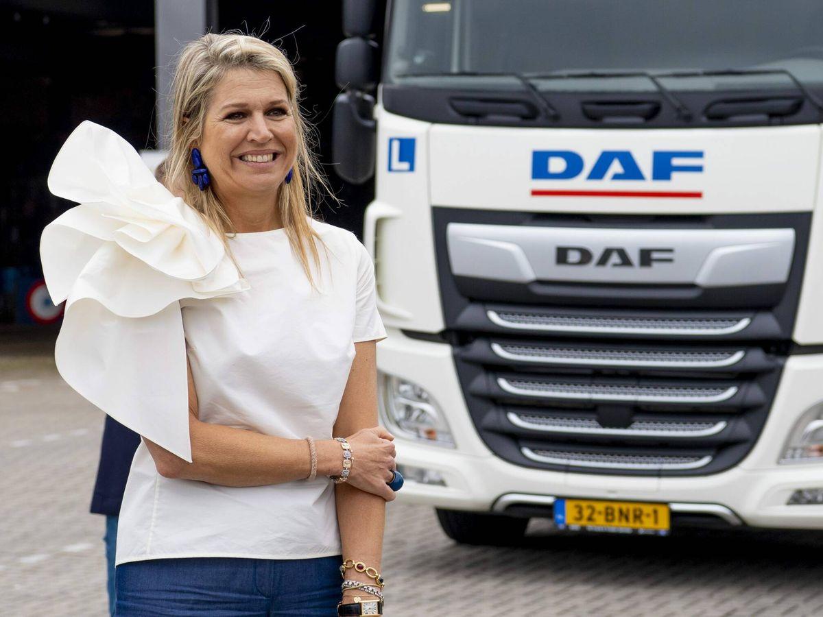 Foto: Máxima de Holanda, durante su acto. (CP)