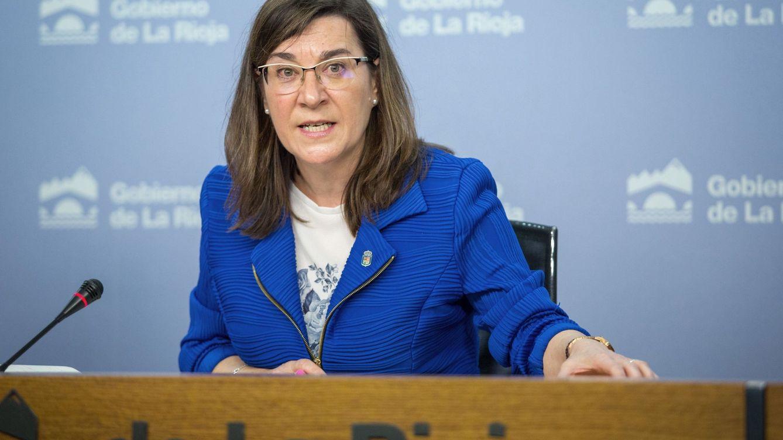 Foto:  La consejera riojana de Salud, Sara Alba durante la conferencia de prensa. (EFE)