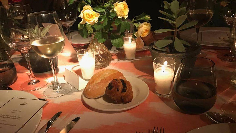 La decoración de las mesas era espléndida.