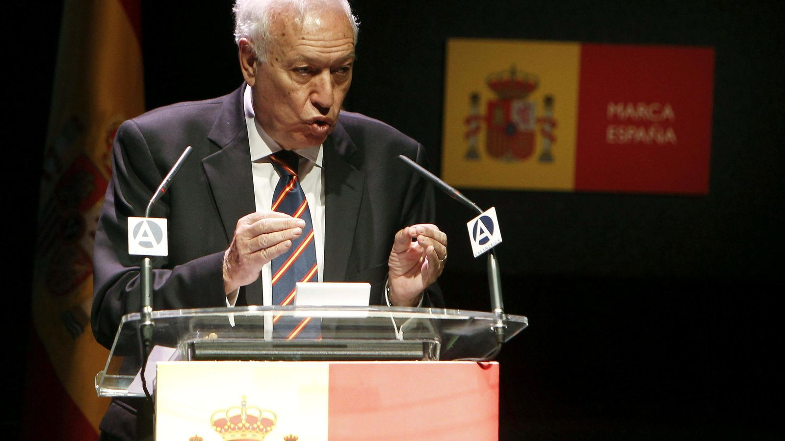 Foto: El ministro de Asuntos Exteriores, José Manuel García-Margallo, en el tercer aniversario de la Marca España. (EFE)