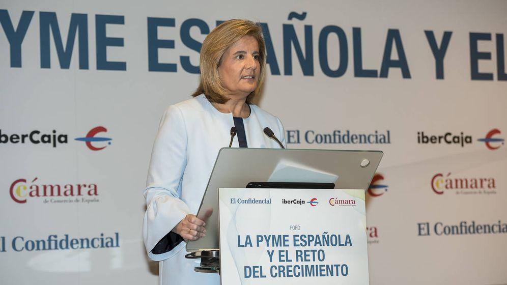 Foto: La ministra de Empleo durante su intervención en el Foro La pyme española y el reto del crecimiento (Goyo Conde)
