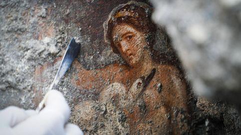 Un fresco imédito del mito griego de Leda y el cisne
