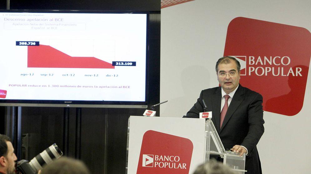 Foto: Ángel Ron, expresidente de Banco Popular, durante la presentación de resultados de 2012. (EFE)