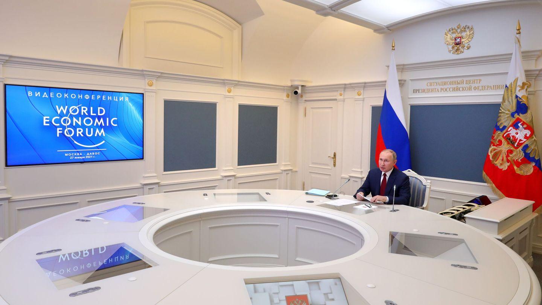 Vladímir Putin, en el Foro Económico Mundial. (EFE)