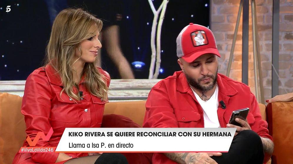 Foto: Irene Rosales y Kiko Rivera, en 'Viva la vida'. (Telecinco)