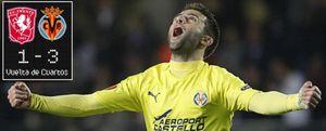 El Villarreal da un golpe de autoridad y se clasifica a las semifinales de la Liga Europa