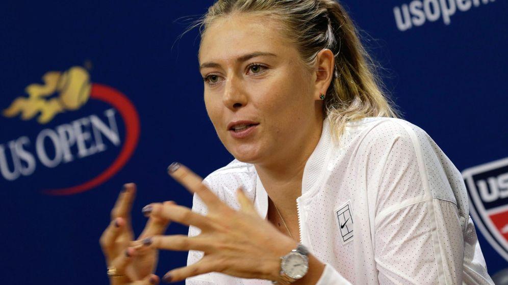 Foto: Maria Sharapova, en el Media Day del US Open (Efe).