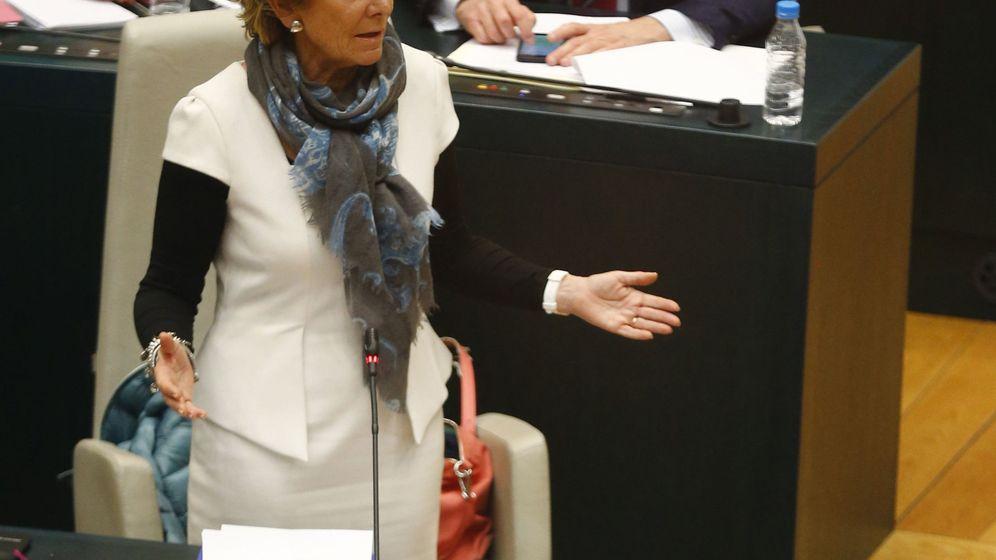 Foto: La portavoz del PP en el Ayuntamiento de Madrid, Esperanza Aguirre, durante una intervención en el pleno del consistorio. (EFE)