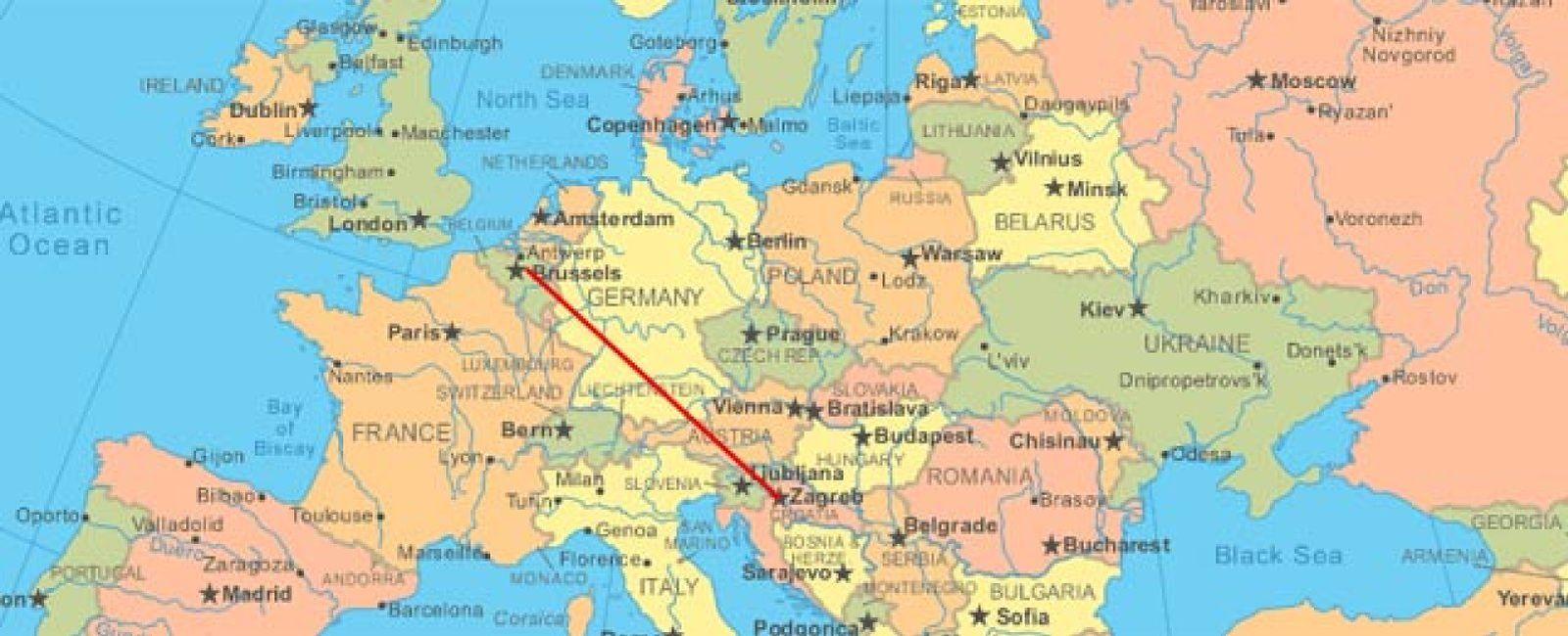Foto: Una mujer conduce de Bélgica a Croacia desorientada por el GPS