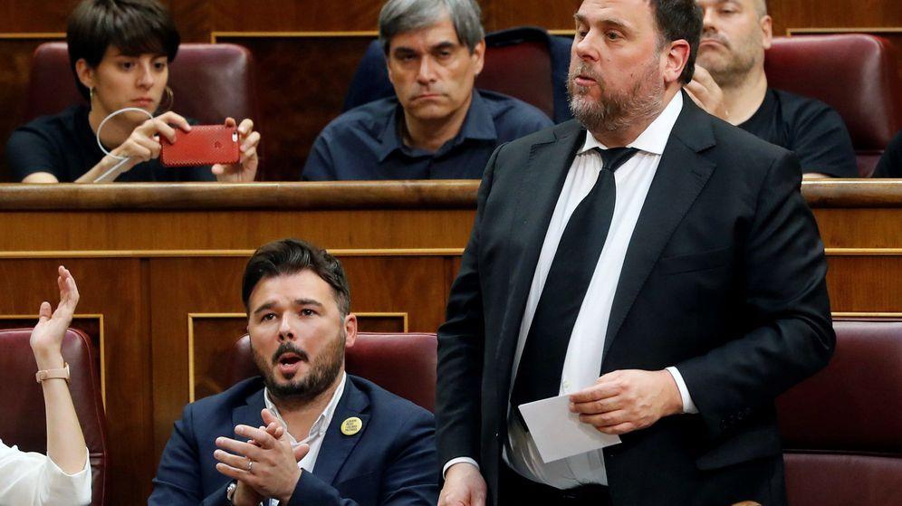 Foto: Fotografía de archivo del pasado 21 de mayo de 2019 que muestra a Oriol Junqueras durante la sesión constitutiva de las Cortes Generales de la XIII Legislatura. (EFE)