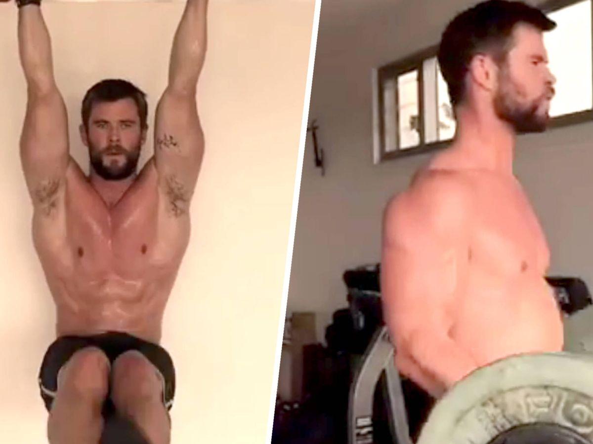 Foto: Chris Hemsworth en imágenes de su rutina de ejercicios publicada en Instagram