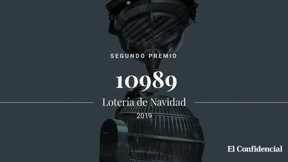 Foto: Segundo premio de la Lotería de Navidad de 2019. (El Confidencial)