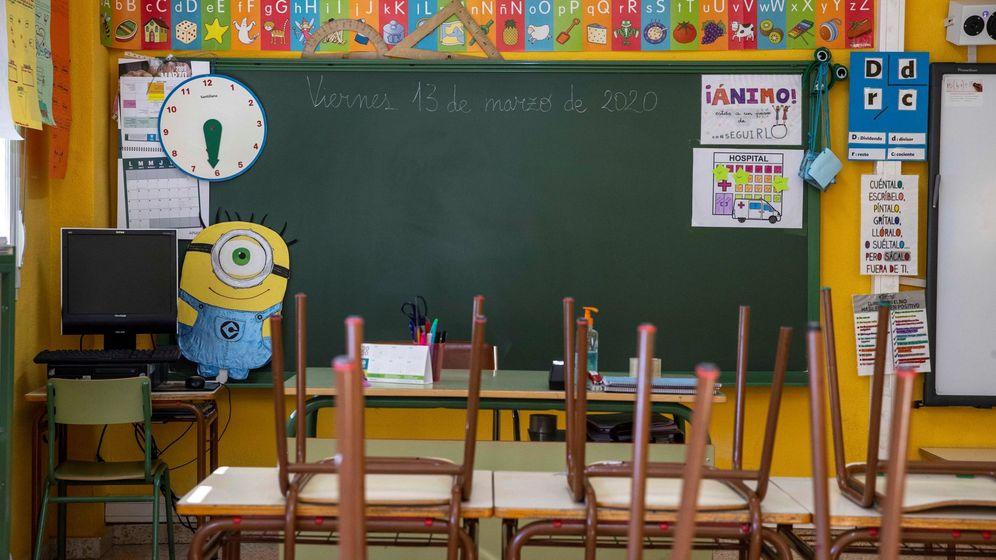 Foto: Un aula vacia de un colegio de Villanueva del Río Segura, Murcia. (EFE)