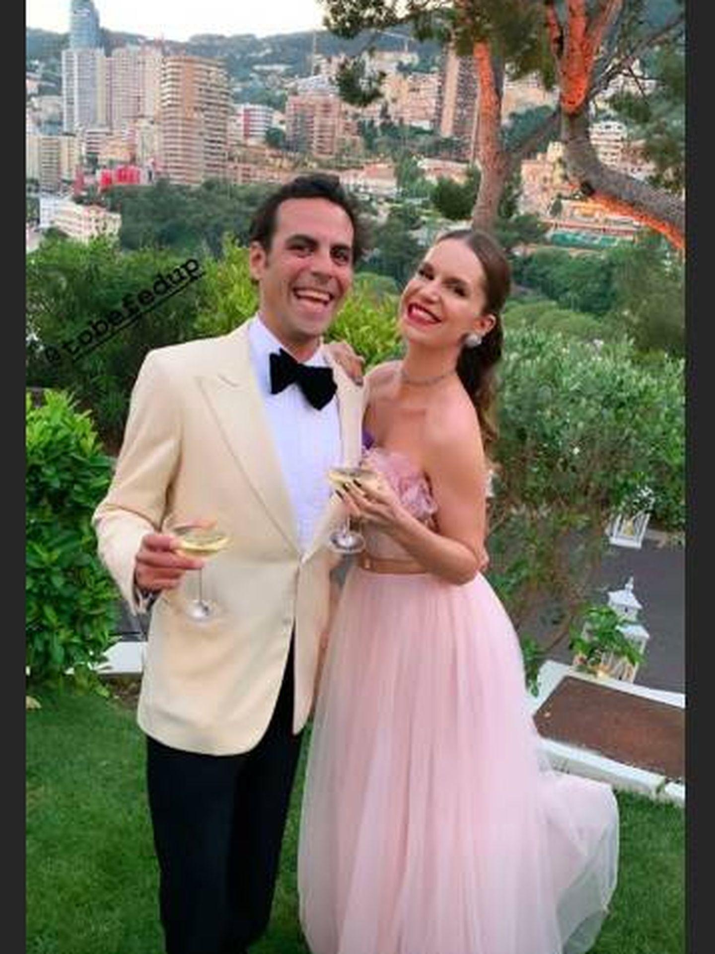 Eugenie Niarchos con un vestido rosa pastel de tul. (Instagram)