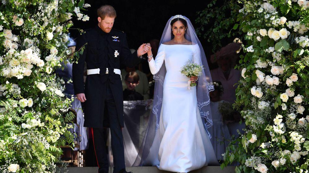 familia real británica: ¿es el vestido de novia de meghan markle un