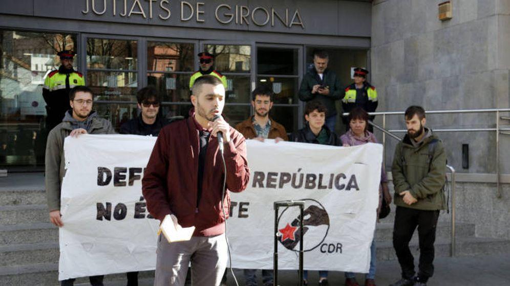 Foto: Jordi Alemany frente a los juzgados de Girona.