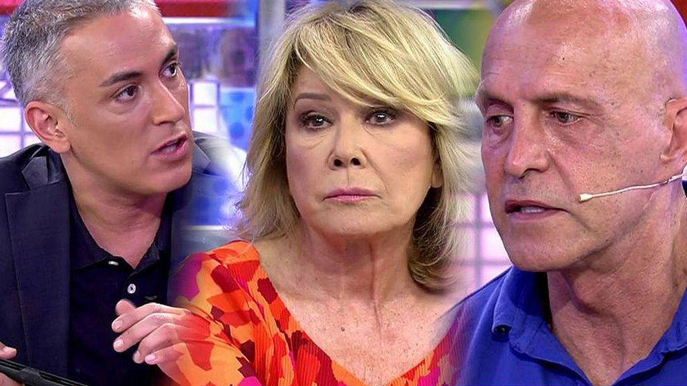 Foto: Kiko Hernández, Mila Ximénez y Kiko Matamoros en 'Sálvame'. (Mediaset España)