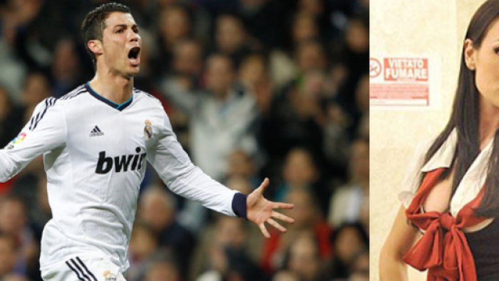 Cristiano Ronaldo: ¿velada romántica con una 'velina' de Berlusconi?