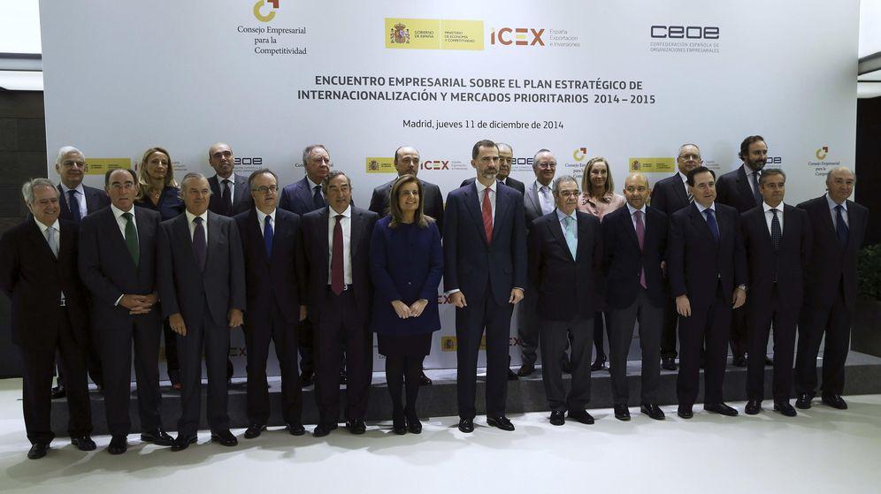 Foto: Foto de archivo del CEC y otras autoridades junto al rey Felipe VI. (EFE)