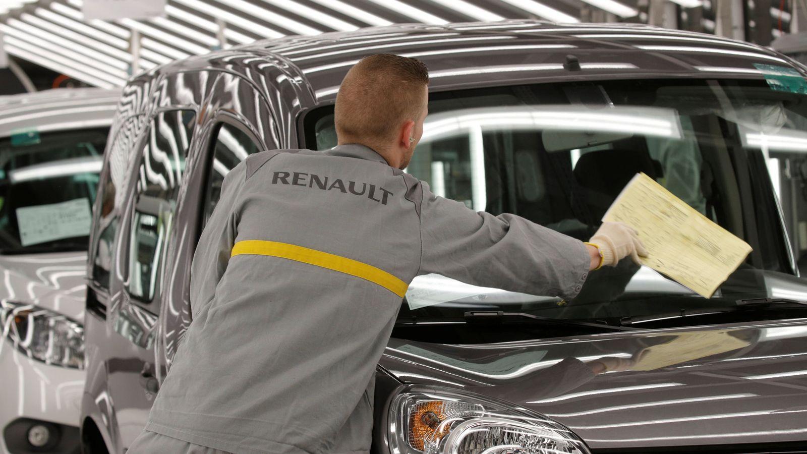 Manifestación en Francia contra el traslado de una planta de Renault