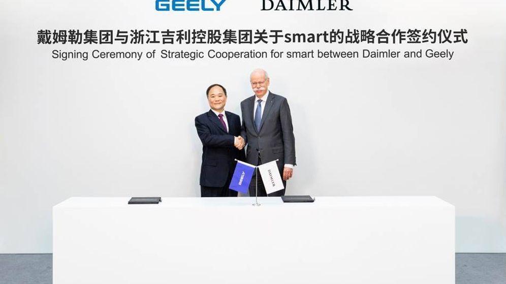 Foto: Geely y Daimler sellan su acuerdo por Smart (FOTO: Daimler)