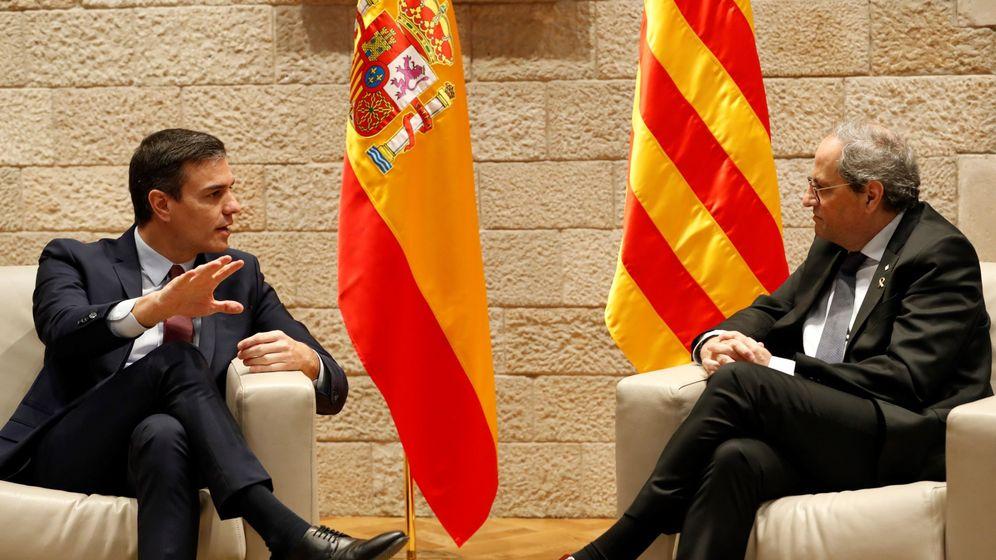 Foto: El presidente catalán, Quim Torra, y el presidente del Gobierno, Pedro Sánchez. (EFE)