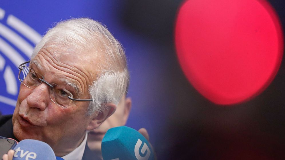 Foto: El ministro de Asuntos Exteriores, Josep Borrell, ofrece una rueda de prensa en el Parlamento Europeo, en Bruselas. (EFE)