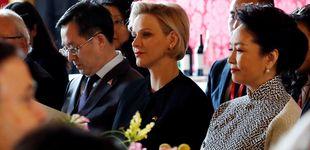 Post de La seriedad de Charlène y la curiosidad de Jacques eclipsan la visita del presidente chino