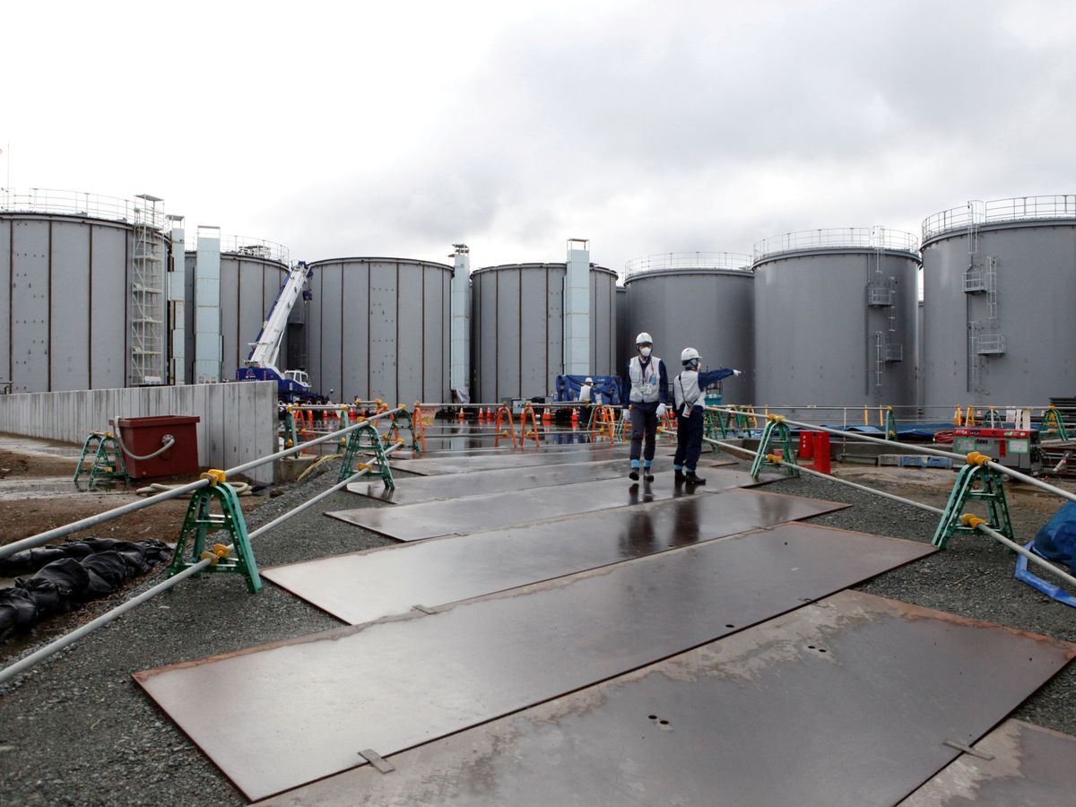 Foto: Tanques de almacenaje del agua contaminada de Fukushima. Foto: REUTERS Aaron Sheldrick