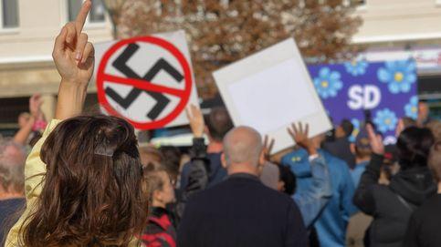 Crónica de un mitin ultra: consignas contra abucheos en Suecia