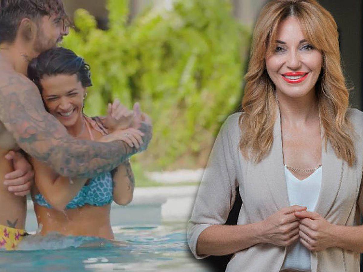 Foto: Fiama y Joy, en 'La isla de las tentaciones' (Mediaset); Ania Iglesias, en una sesión para la firma 'Top Love'.