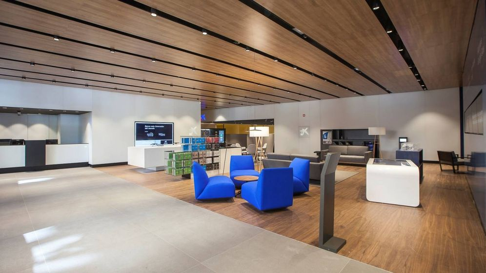 Foto: Oficina A de Caixabank en Valencia.