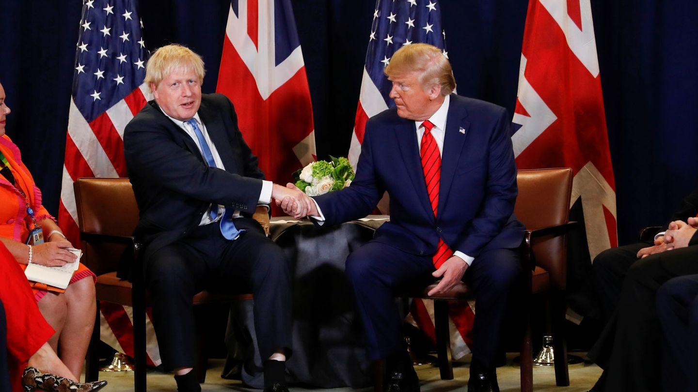 Boris Johnson, junto a Donald Trump en un 'meeting' en Nueva York. (Reuters)