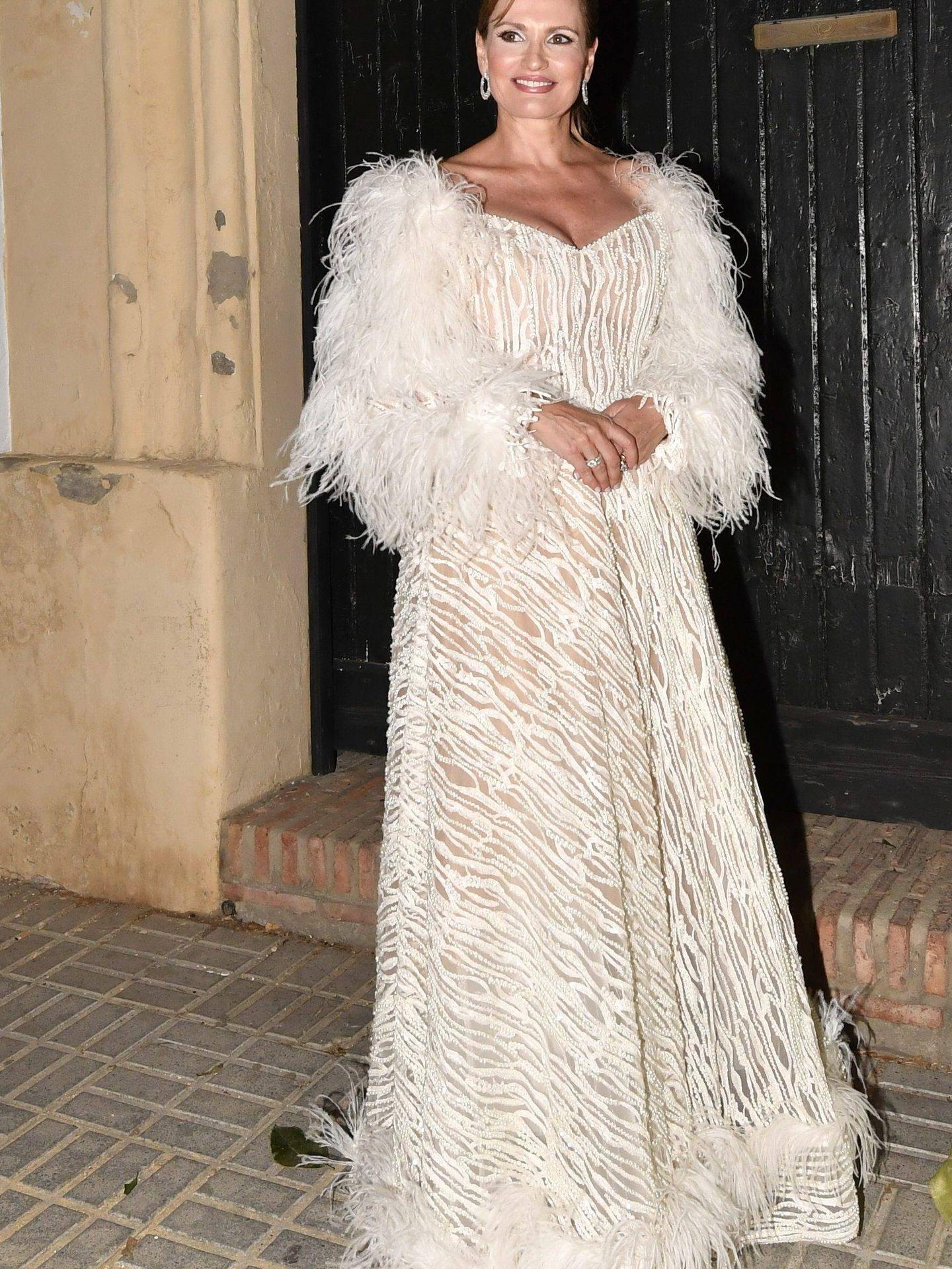 Ainhoa Arteta en su fiesta prenupcial. (Cordon Press)